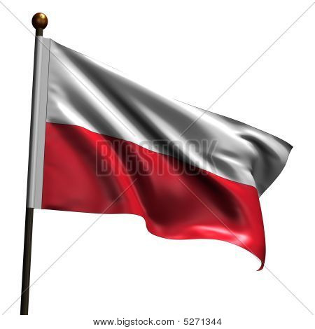 High Resolution Polish Flag