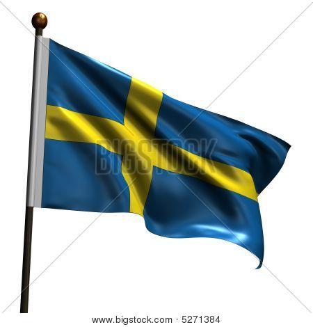 High Resolution Swedish Flag