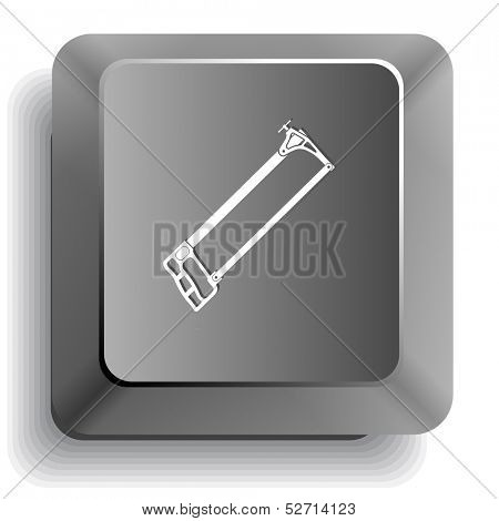 Hacksaw. Raster computer key.
