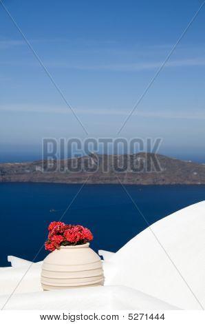 View Of Volcanic Islands   Santorini