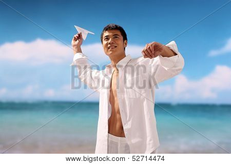 Young Man With Beach