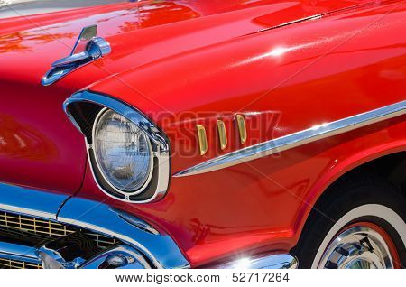 Closeup of 1957 Chevrolet Bel Air