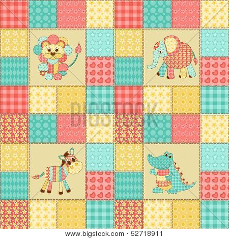 Patchwork african animals
