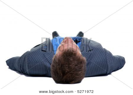 Businessman On His Back