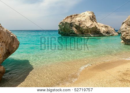 Kathisma Beach On Lefkas Island Greece