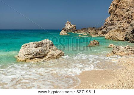 Egremni Beach In Lefkada