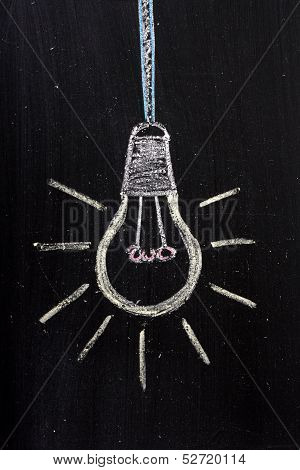 Light Bulb on a blackboard
