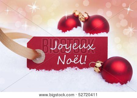 Label With Joyeux Noel