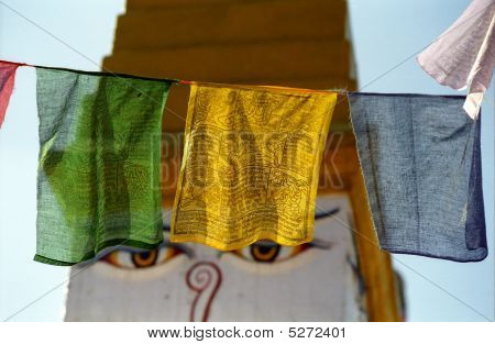 Prayer Flags, Bodnath, Japan