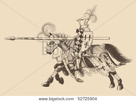 Horseback Knight of the tournament