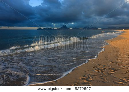 Dramatic Beach Scene
