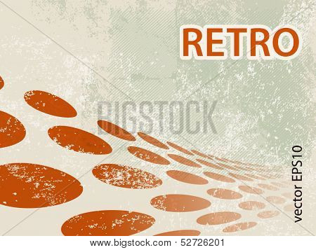 Retro circle pattern - abstract grunge dots background design