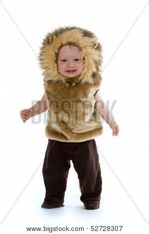 Boy In Lion Costume