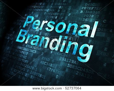 Advertising concept: Personal Branding on digital background