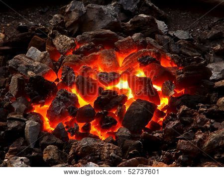 Live coal