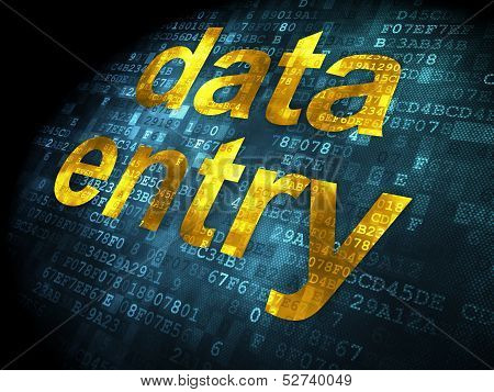 Data concept: Data Entry on digital background
