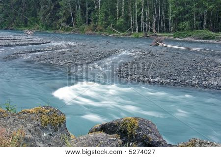 Hoh River In Rainforest
