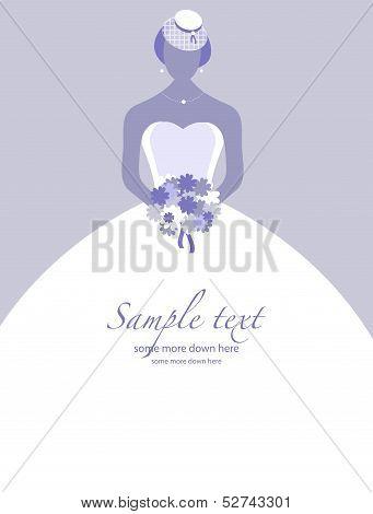Retro bride background