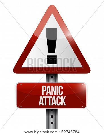 Panic Attack Road Sign Illustration Design