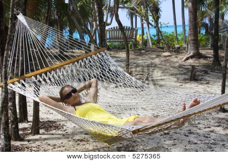 Relaxing In A Hammock On Vacation