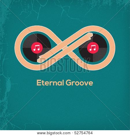 Abstract music vintage concept Eternal Groove