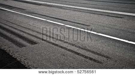 Emergency Braking Tracks On The Highway