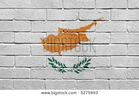 Flag Of Cyprus On Brick Wall