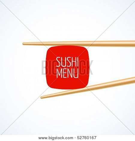 Sushi menu cover template. Vector.