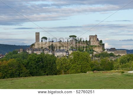 View to Turrene castle, Perigord, France