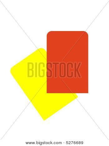 Red And Yellow Soccer Cards