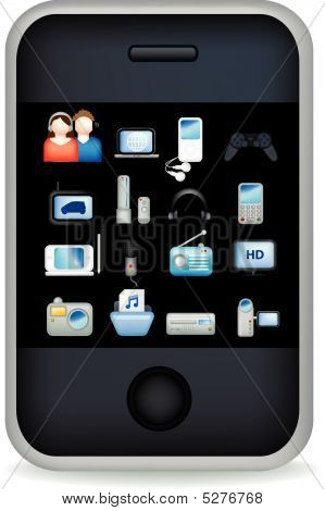 Phone Touchscreen Entertain