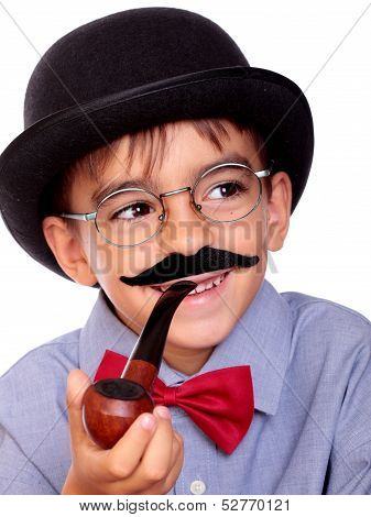 Boy And Mustache
