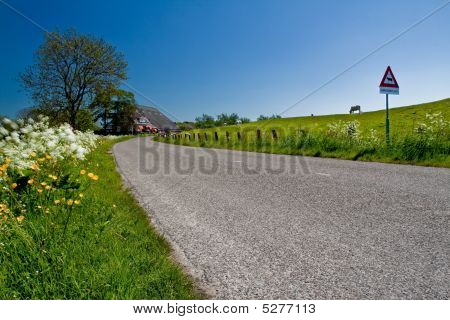 Countryside With Farmer