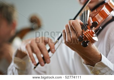 Violinist And Cellist