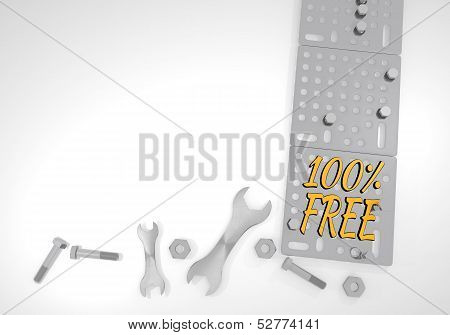Free Icon On White Mechanical Background