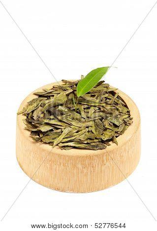 Growing Leaves Of Dried Green Tea Leaves.