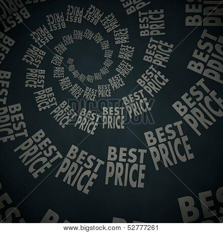 Best Price Label  On Vintage Background