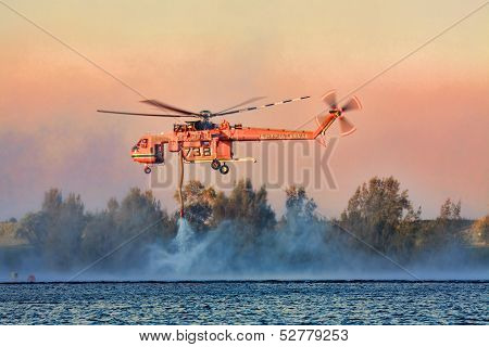 Sikorsky Air Crane fighting extreme bush fires