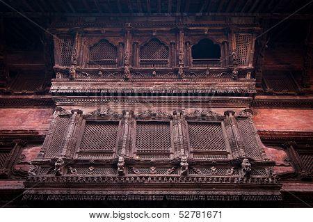Hindu temple architecture detail.. Nepal
