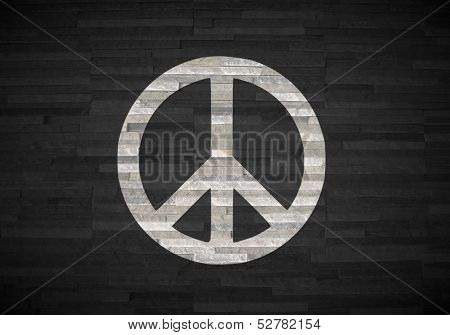 3D Render Of A Creative Peace Label  On Noble Stone Texture