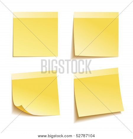 Yellow stick note