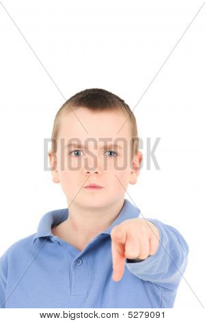 Little Boy With Finger