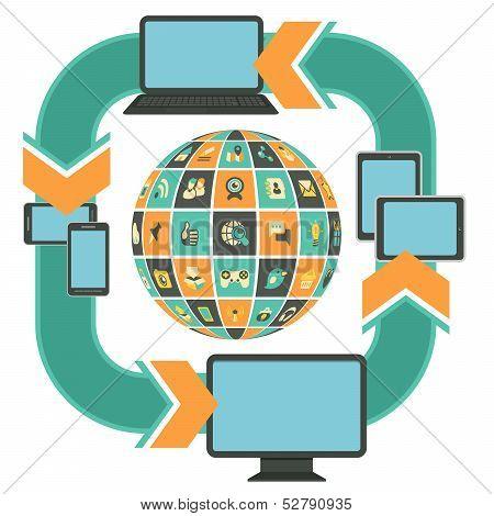 Responsive Web Design Template Turquoise