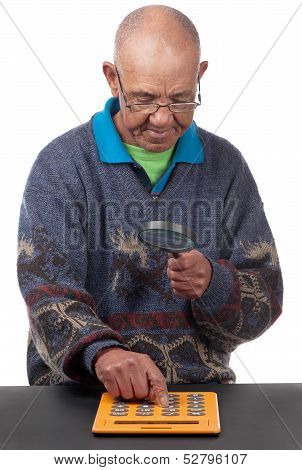 Old Man With Calculator