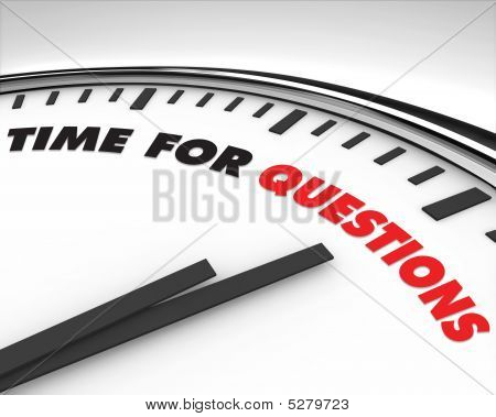 Time For Questions - Clock