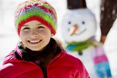 stock photo of snowmen  - Winter fun - JPG