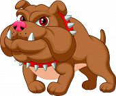 picture of bull head  - Vector illustration of Bulldog cartoon isolated on white background - JPG