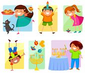 image of israel people  - children celebrating Hannukah with the holiday - JPG