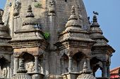 stock photo of krishna  - Newari architecture in Patan - JPG