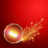 image of diwali  - happy diwali burning crackers background - JPG